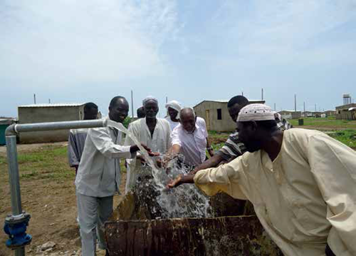 Water transfer from the Nile river to Port Sudan city over 600 km