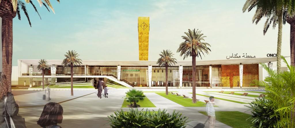 Meknes city train station
